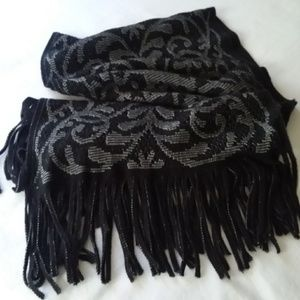 Collection 18 Neck Scarf Knit Black Soft Winter